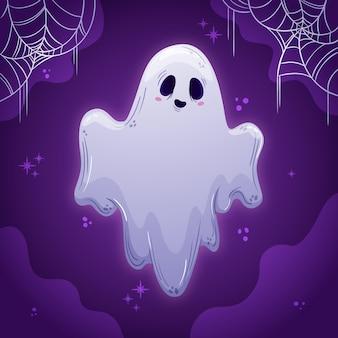 Dibujado a mano ilustración de fantasma de halloween vector gratuito