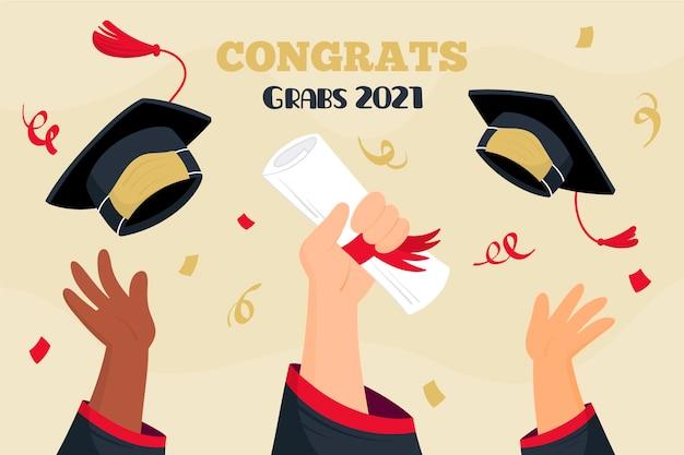 Dibujado a mano ilustración de graduación