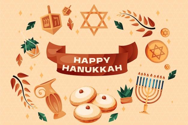 Dibujado a mano ilustración de hanukkah