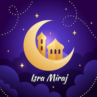dibujado a mano ilustración de isra miraj
