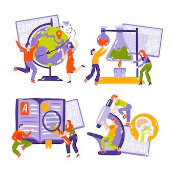 Dibujado a mano ilustración de pegatinas de educación