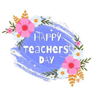 Dibujado a mano ilustración plana del día del maestro