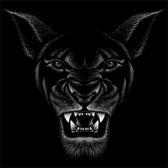 Dibujado a mano ilustración en tiza estilo de bestia