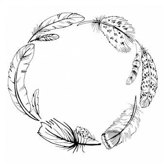 Dibujado a mano ilustración vectorial boho.