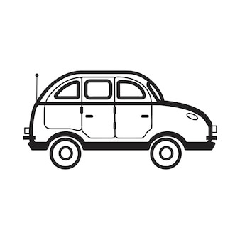 Dibujado a mano ilustración de vehículo de uso múltiple