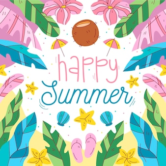 Dibujado a mano ilustración de verano