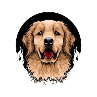 Dibujado a mano lindo perro ilustración