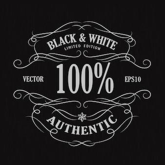 Dibujado a mano marco etiqueta vintage banner retro pizarra ilustración vectorial