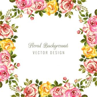 Dibujado a mano marco floral decorativo