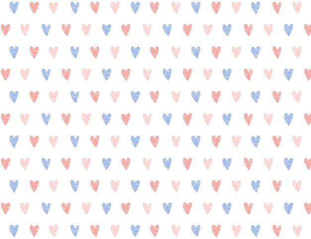Dibujado a mano mini corazón de patrones sin fisuras