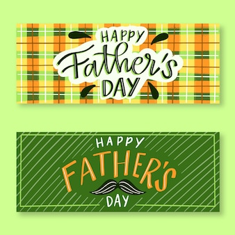Dibujado a mano pancartas del día del padre