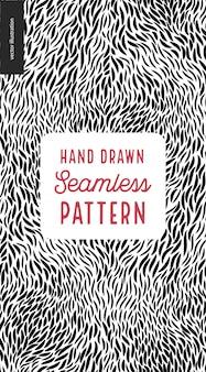 Dibujado a mano patrón blanco y negro