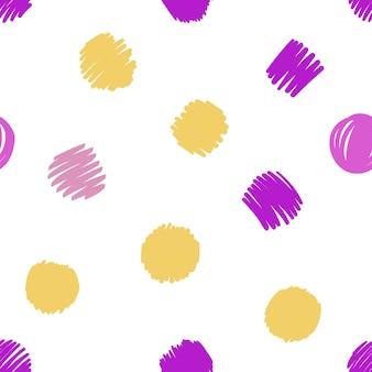 Dibujado a mano patrón moderno de trazo de pincel. formas de textura de patrones sin fisuras de vector. fondo abstracto en colores brillantes. impresión decorativa