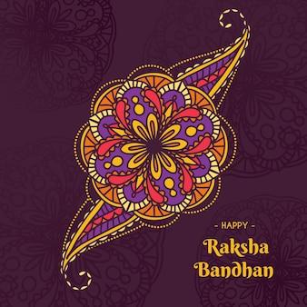 Dibujado a mano raksha bandhan