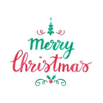 Dibujado a mano saludo de navidad