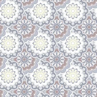 Dibujado a mano transparente mandala patrón elementos decorativos vintage