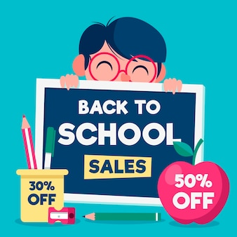 Dibujado a mano las ventas de regreso a la escuela