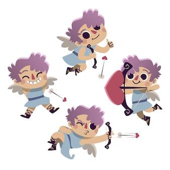 Dibujando con la colección de personajes de cupido