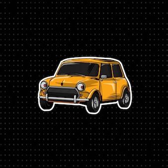 Dibujar a mano classic mini cooper car