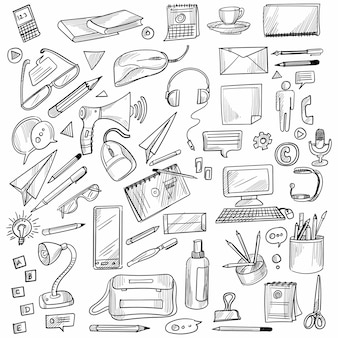 Dibujar a mano doodle escenografía decorativa