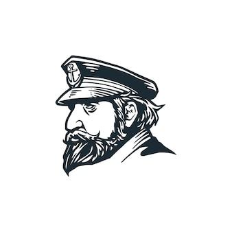 Dibujar a mano marinero viejo