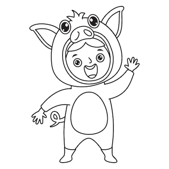 Dibujo de arte lineal para niños página para colorear