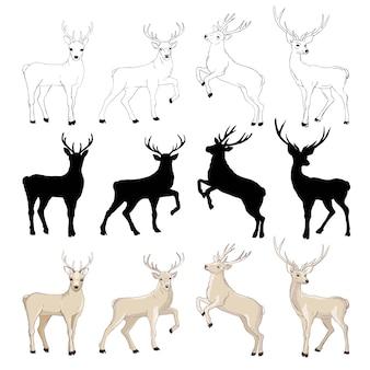 Dibujo de ciervos