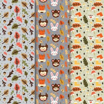 Dibujo de colección de patrones de otoño
