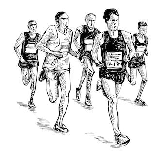 Dibujo de la competencia de carrera