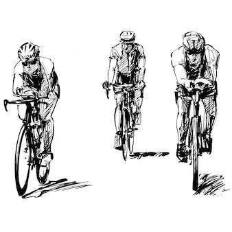 Dibujo de la competición de bicicletas