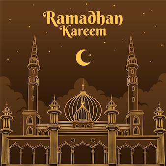 Dibujo del concepto de ramadán
