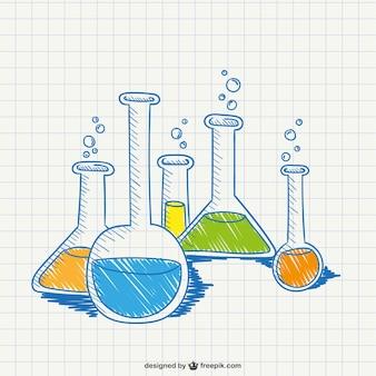 Dibujo conceptual de química vector gratuito