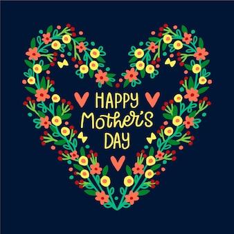 Dibujo del corazón para el día de la madre
