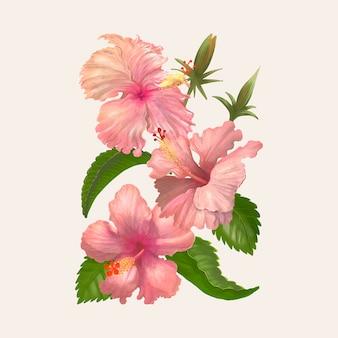 Dibujo de la ilustración de la flor de la acuarela
