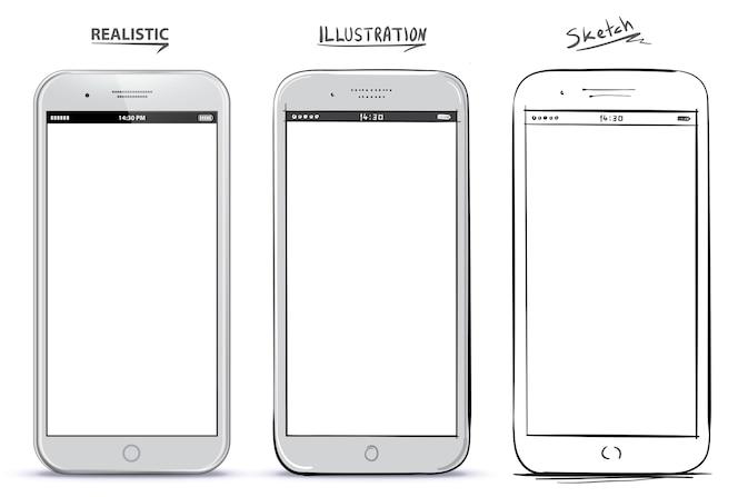 dise o moderno de smartphone con pantalla blanca descargar vectores gratis. Black Bedroom Furniture Sets. Home Design Ideas