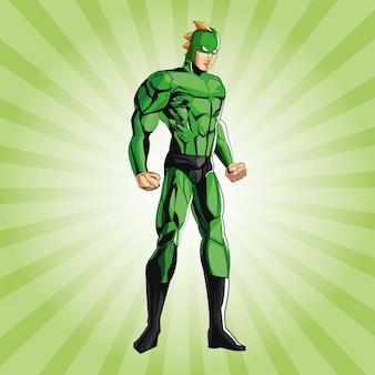 Dibujo de dibujos animados de superhéroes