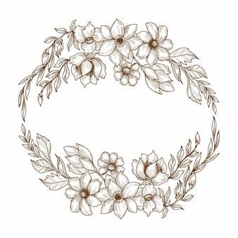 Dibujo floral decorativo