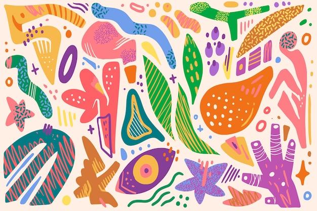 Dibujo de fondo de formas orgánicas