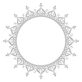 Dibujo de mandala islámica para colorear