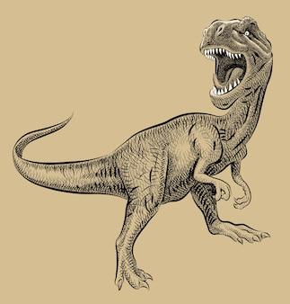 Dibujo a mano de dinosaurio