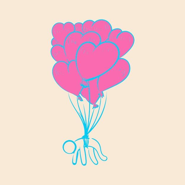 Dibujo a mano ilustración de amor concepto