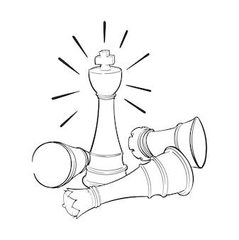 Dibujo a mano ilustración del concepto de liderazgo