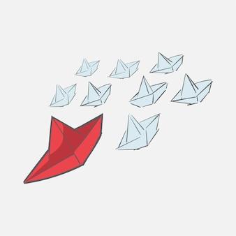 Dibujo a mano ilustración de concepto de liderazgo
