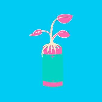 Dibujo a mano ilustración conjunto de ambiente sostenible