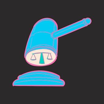 Dibujo a mano ilustración de la justicia conecept