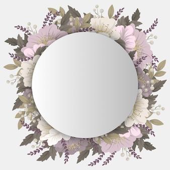 Dibujo de marco de flores