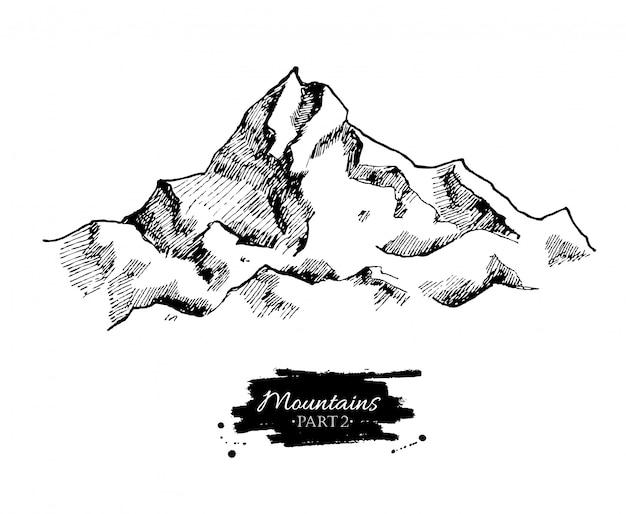 Dibujo de montañas