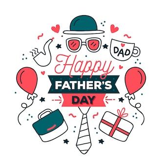 Dibujo del tema del día del padre