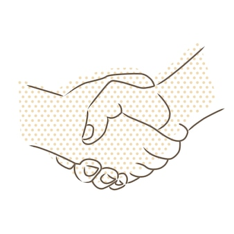 Dibujo vectorial de apretón de manos