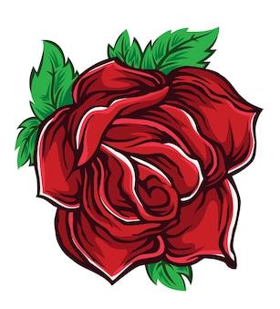 Dibujo vectorial de rosa